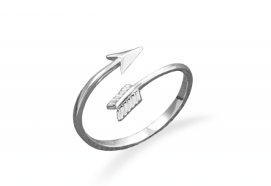 Arrow Silver Wrap Ring - Seraphim Jewelry