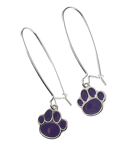 PURPLE PAW EARRINGS - Seraphim Jewelry