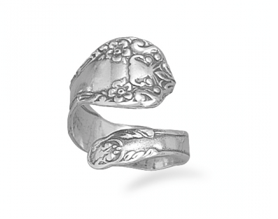 Floral Sterling Spoon Ring - Seraphim Jewelry