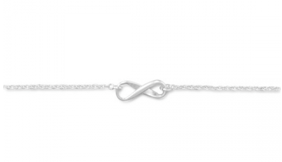 Infinity Symbol Sterling Silver Anklet - Seraphim Jewelry