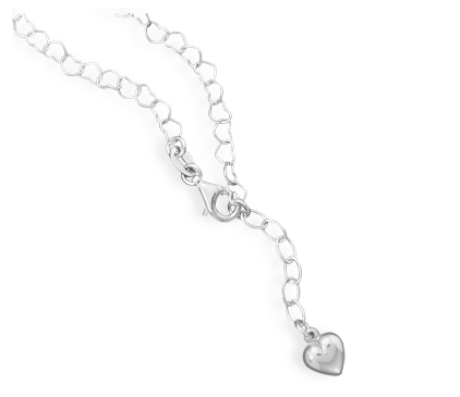 Linked Heart Sterling Silver Anklet - Seraphim Jewelry