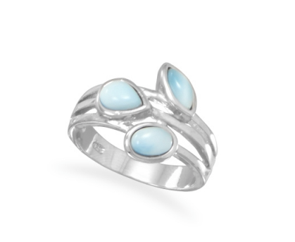 Sterling Silver Larimar Ring - Seraphim Jewelry