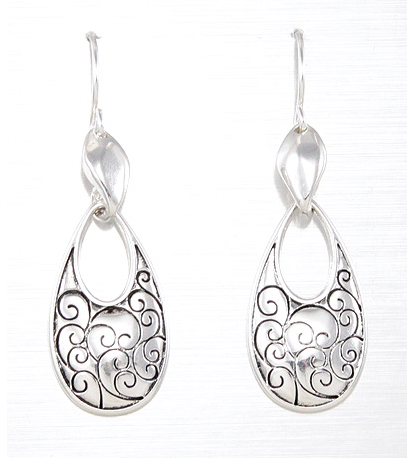 Silver DANGLE EARRINGs - Seraphim Jewelry