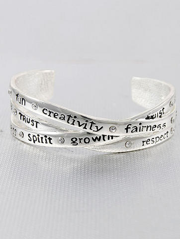 Positive Message Silver Bracelet - Seraphim Jewelry - 1