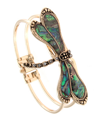 DRAGONFLY BANGLE bracelet - Seraphim Jewelry