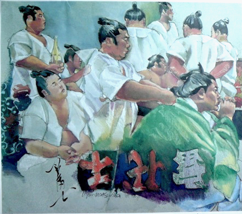 Artist Lynn Matsuoka;  Secret World of Japanese Sumo and Kabuki