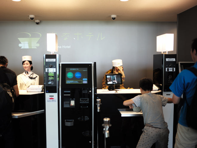 Robot checkin at Henn na Hotel, Japan