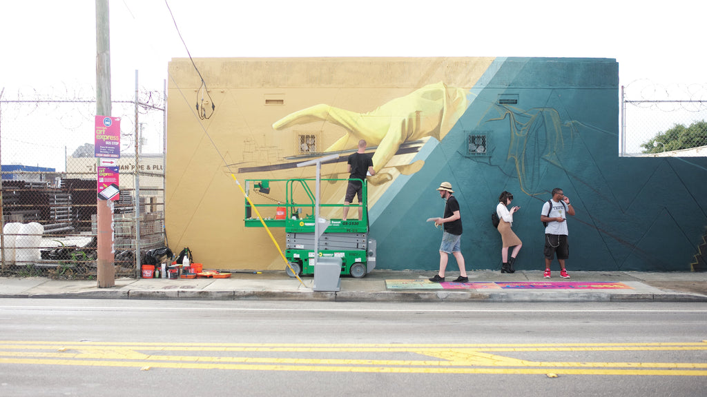 Wynwood Art District, Miami Mural-Inwork