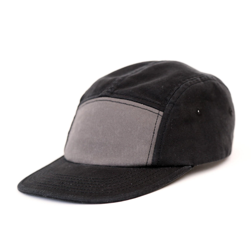 Crew mens baseball cap black grey