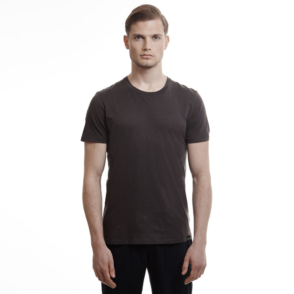 Hamptons crew slim fit cotton Coffee t shirts
