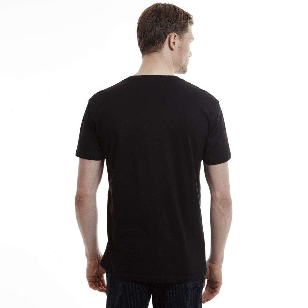 Black t shirts v neck -  Hamptons V Neck Slim Fit Cotton Black T Shirts