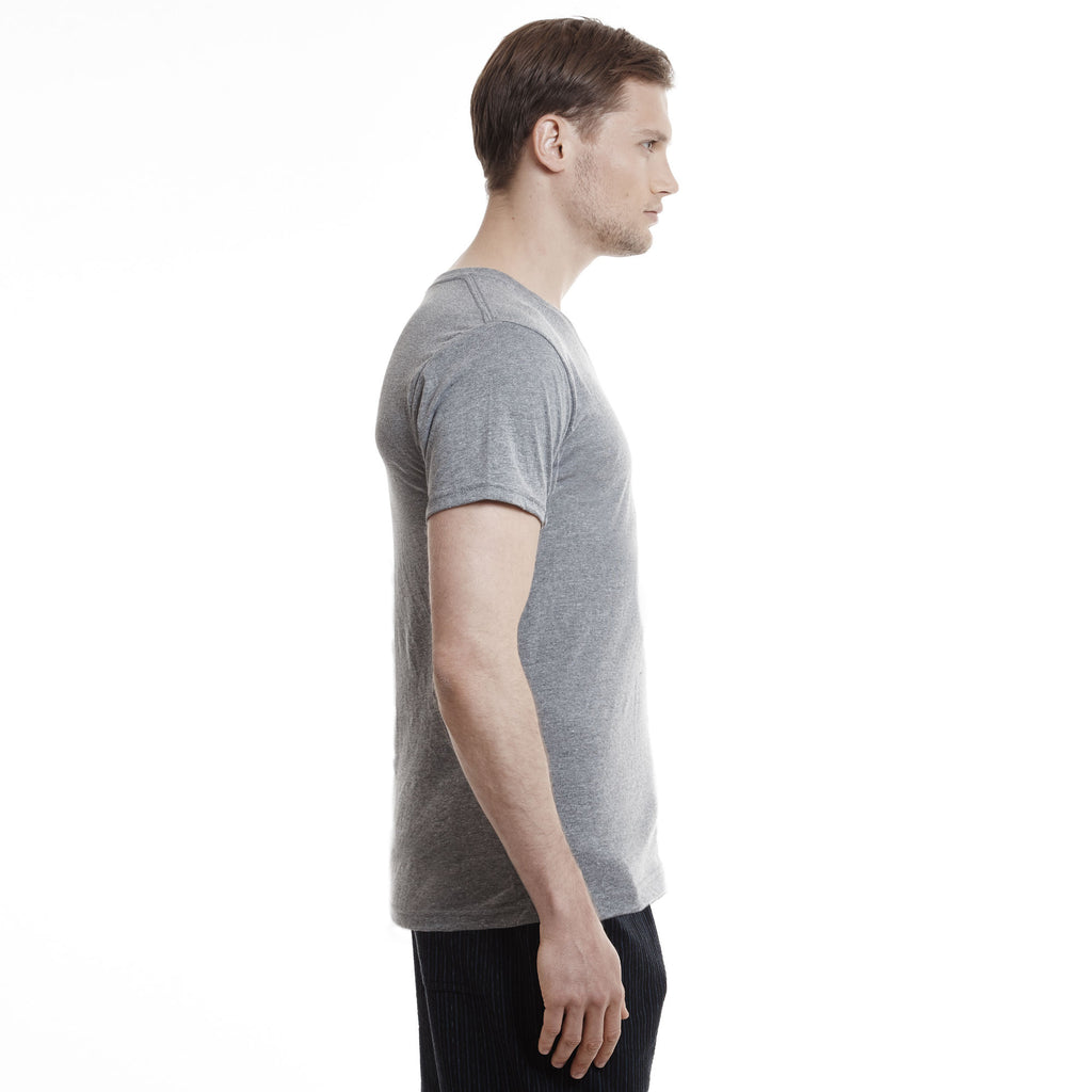 Hampton V-Neck T-Shirt, Grey Heather