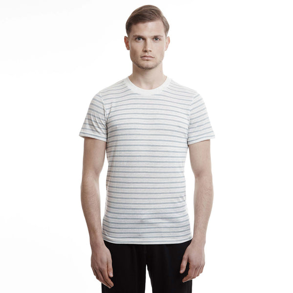 Harbor crew mens stripe slim fit blue t shirts