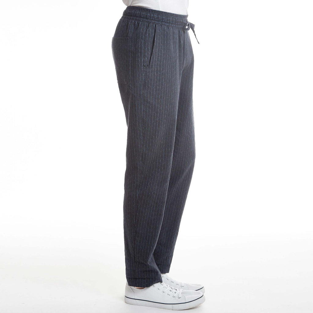 Montauk mens drawstring pant loungewear stripe navy