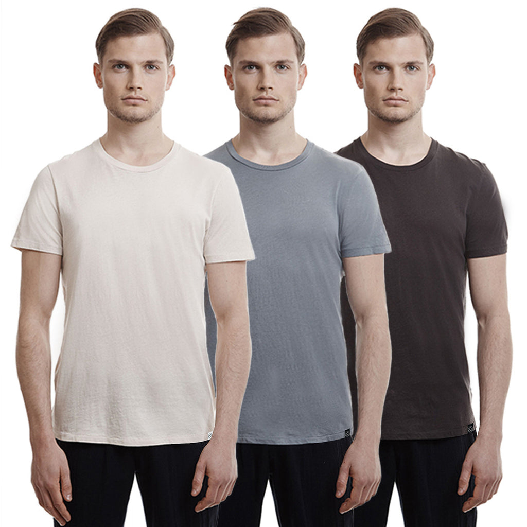Hampton Crew T-shirts, 3-Pack Neutrals