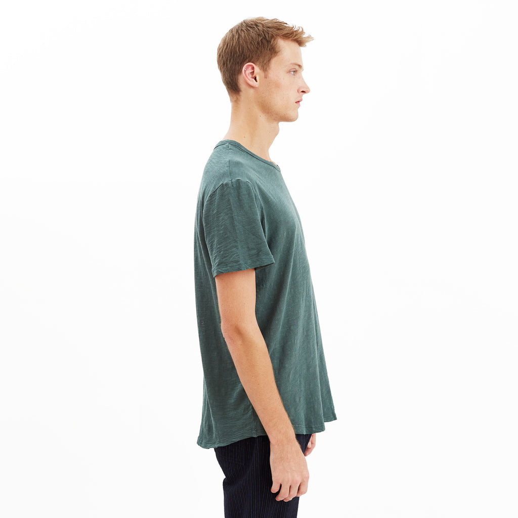 Austin Slub Crew T-Shirt, Forest Green