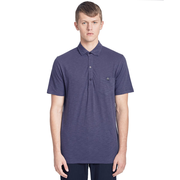 Austin Slub Jersey Polo Shirt, Ink Blue