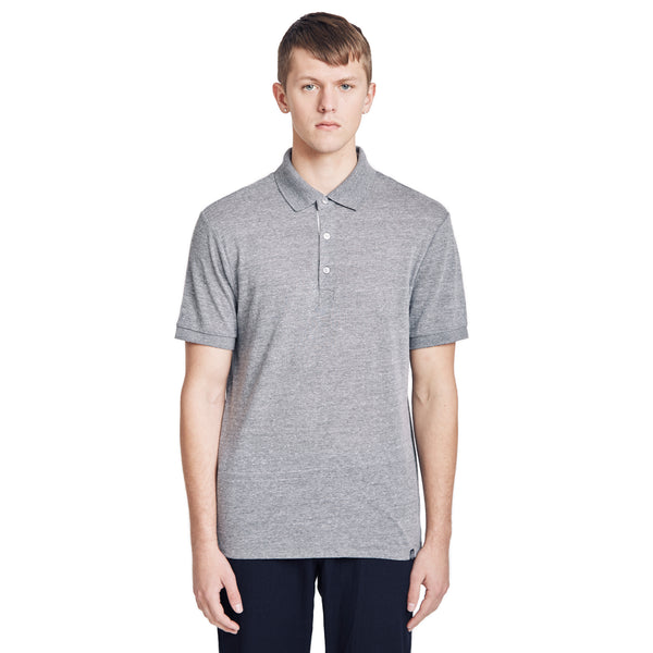 Shoridge Cotton-Jersey Polo Shirt, Grey Heather