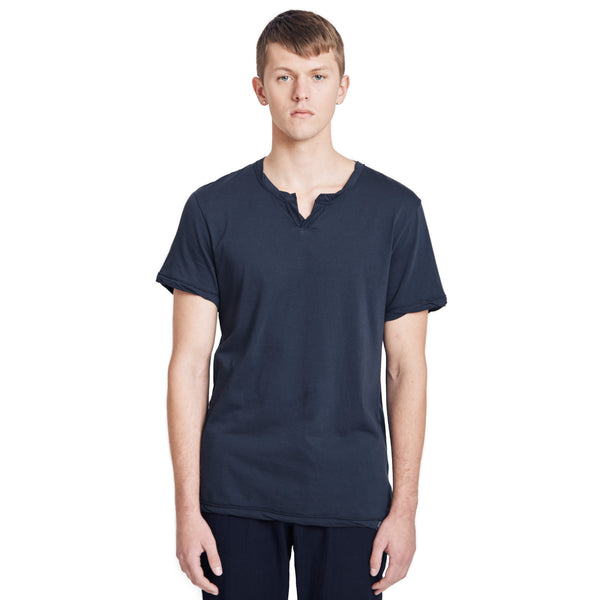 Spencer Notch Pima Cotton Jersey T-shirt Black