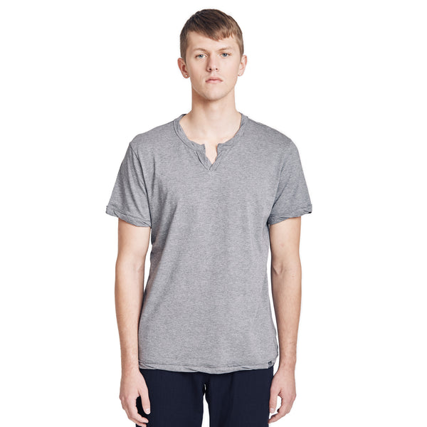 Spencer Notch Pima Cotton Jersey T-shirt Grey Heather