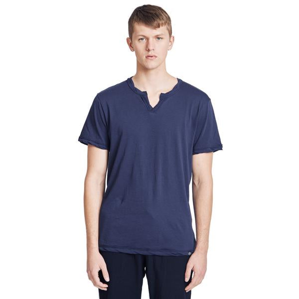 Spencer Notch Pima Cotton Jersey T-shirt Navy