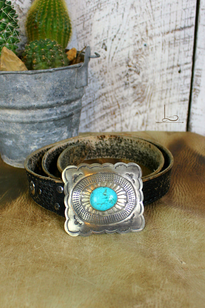 Hand Stamped Silver Buckle - L Trading