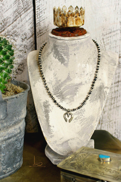 The Banded Bead & Sterling Naja Necklace - L Trading