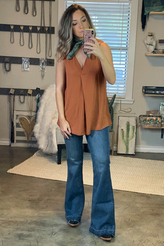 Copper Sleeveless Tunic