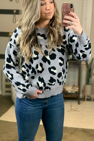 The Grey Leopard Sweater