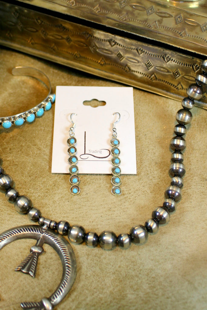Turquoise Bar Dangles