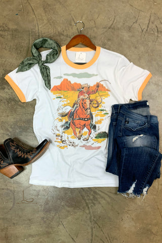 Retro Cowboy Graphic Tee