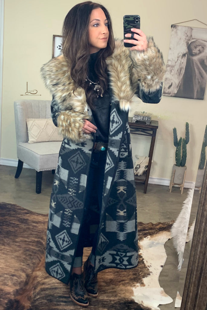 Tasha Polizzi Park City Blanket Coat