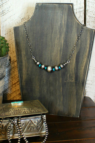 Grande Navajo Pearl & Turquoise Necklace