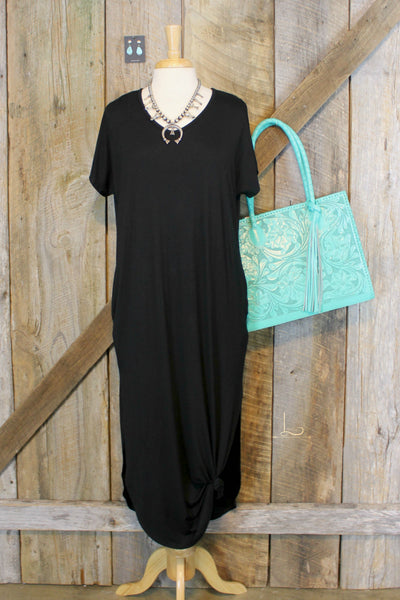 Black Maxie Tee Dress - L Trading