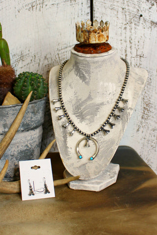 Pequena Squash Blossom Necklace & Earrings