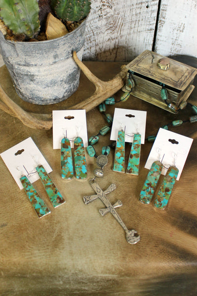 Verde Turquoise Slab Earrings