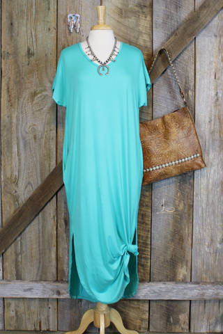 Turquoise Maxie Tee Dress