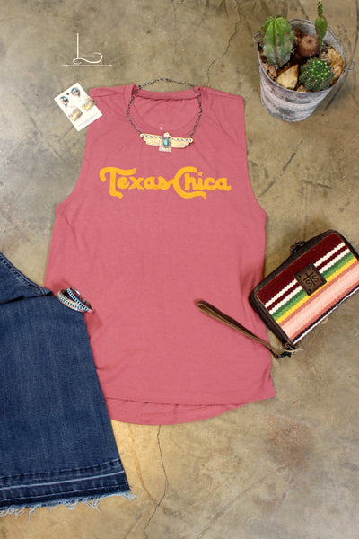 Texas Chica ~ Muscle Tee - L Trading