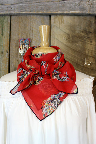 The Big Chief Wild Rag in Red - L Trading