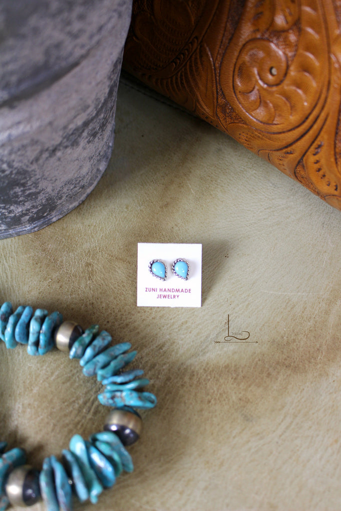 Turquoise & Sterling Studs - L Trading