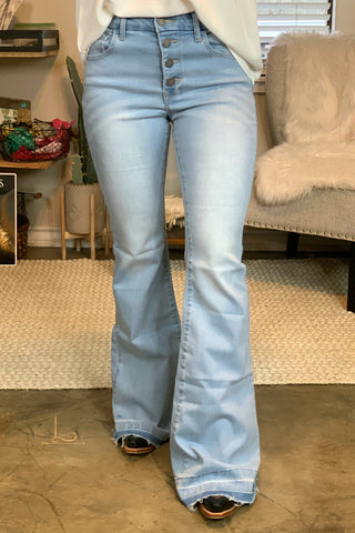 The Laredo Flare Jeans in Light Wash