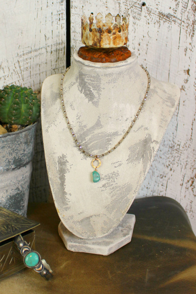 Austrian Crystal & Turquoise Necklace - L Trading