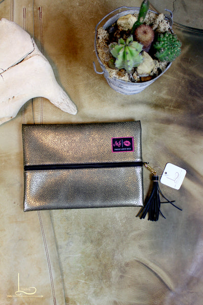 Metallic Makeup Junkie Bag - Medium - L Trading