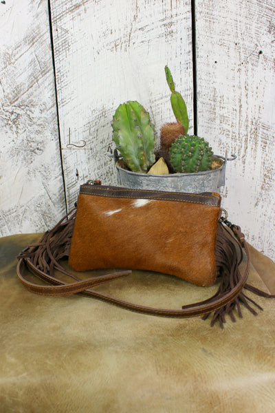 Cowhide Mini Crossbody/Clutch - L Trading