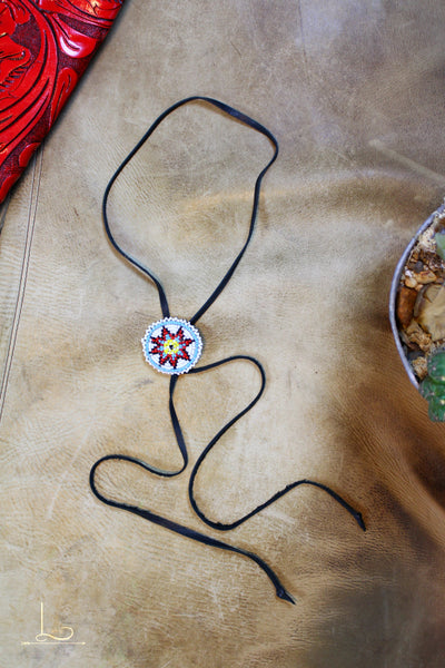 Beaded Bolo Necklace - L Trading