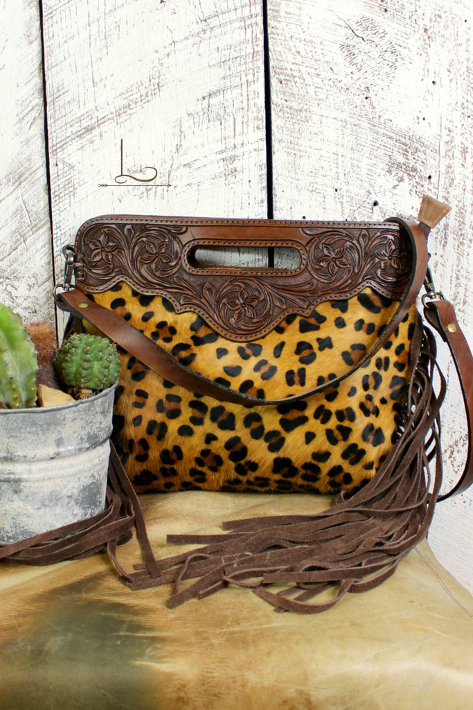 The Leopard Riata Clutch/Shoulder Bag - L Trading