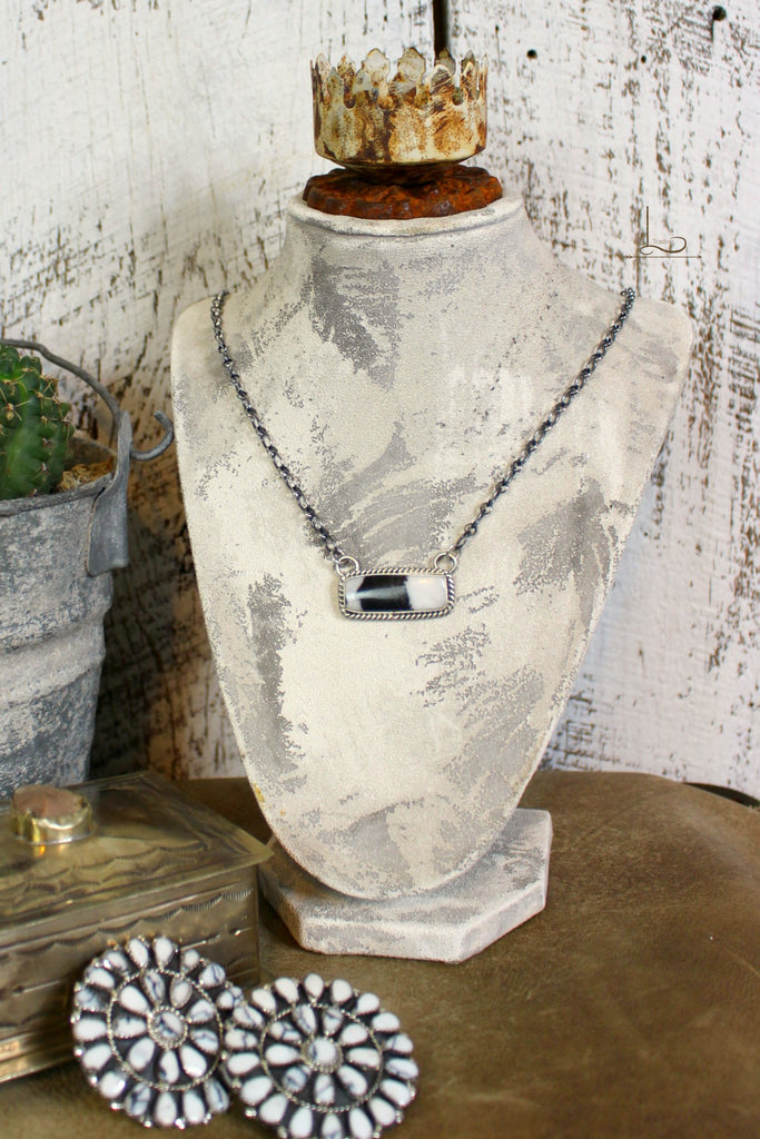 White Buffalo Bar Necklace - L Trading