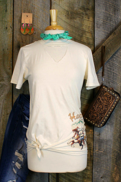 Happy Trails ~ Graphic Tee - L Trading