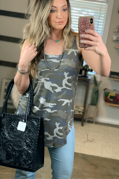 Camo Sleeveless Tunic - L Trading