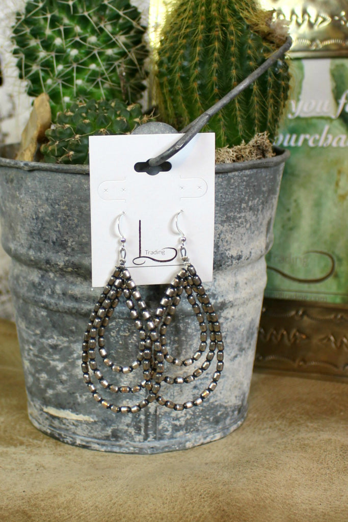 Sterling Tres Teardrop Earrings - L Trading